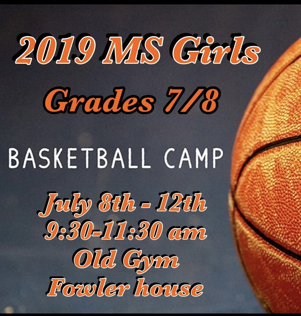 Middle school girls bb camp.