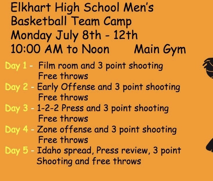 EHS boys team camp