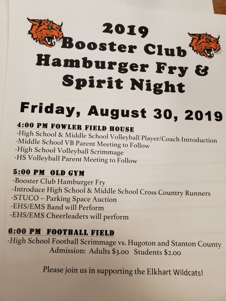 Booster Club Hamburger Fry