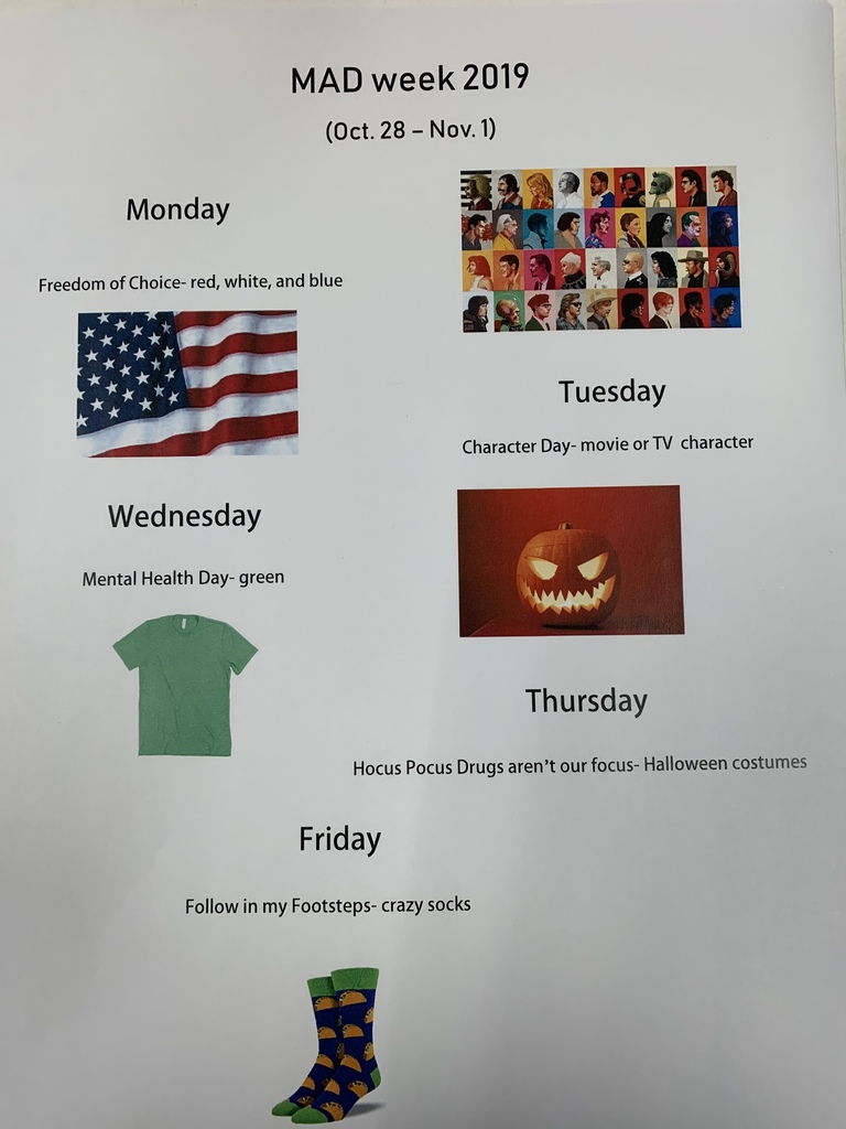 EHS MAD Week 2019 (Red Ribbon)