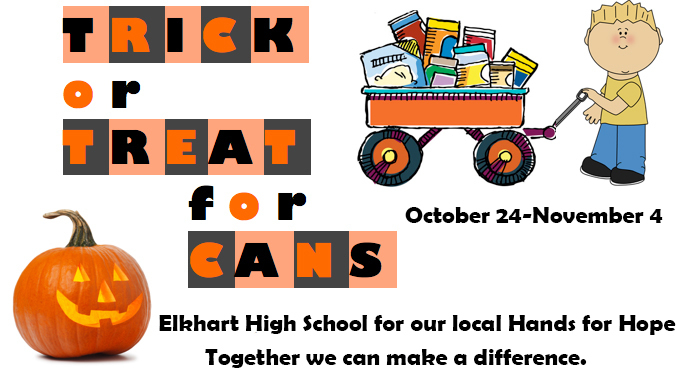 Elkhart Trick or Treat for Cans 2019