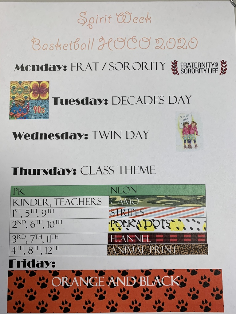 Homecoming Week Feb 3-7