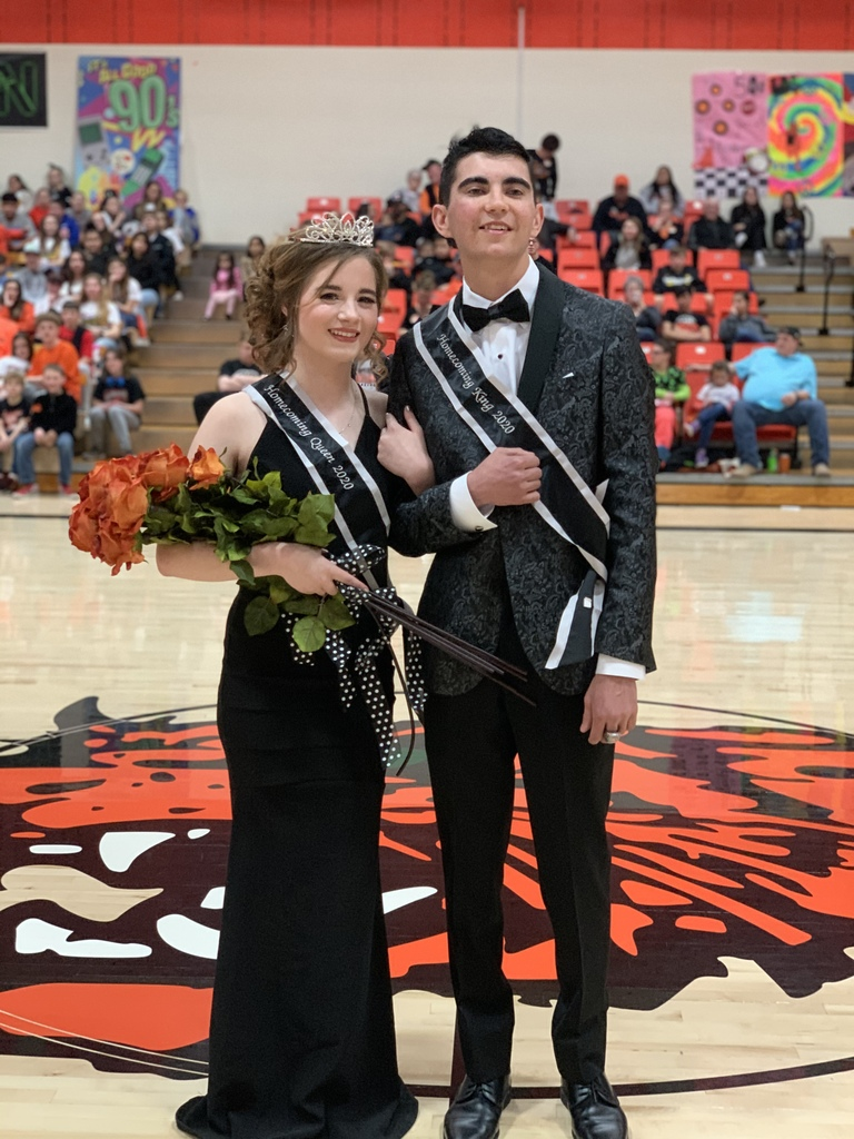 King Garrett and Queen Bethany.