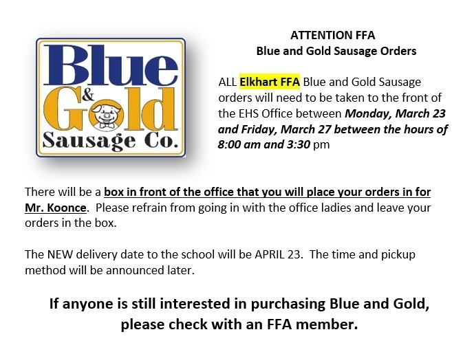 FFA Blue & Gold COVID Delivery Update